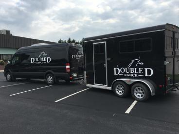 Double D Ranch Sprinter van and trailer decals