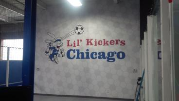 Huge Interior Wall Mural for Lil' Kickers Chicago