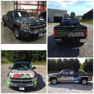 Truck wrap for Xtreme Painting!