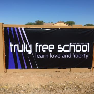 Large Outdoor Banner with Protective UV Liquid Laminate