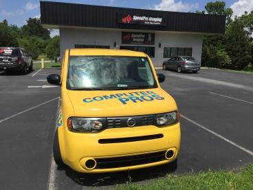 Full Nissan Cube Wrap for Computer Pros!