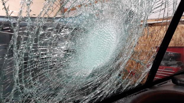 It's dangerous to drive with a windshield like this!