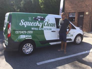 Squeeky Clean Mobile Auto Detailing Van Wrap