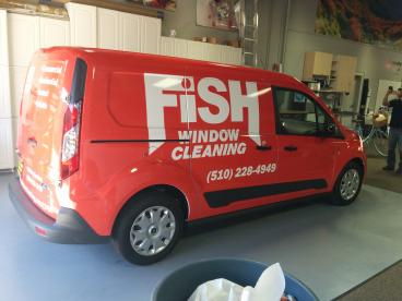 Fish Window Cleaning car wrap
