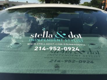 Car Window Graphic for Stella and Dot!