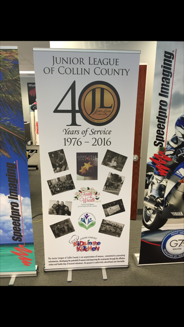 Junior League of Collin County Retractable Banner Stand!