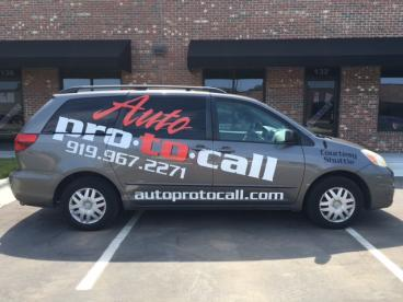 Vehicle Graphics for Auto pro-to-call in Chapel Hill, NC.