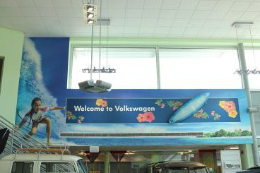 Completed: Wall Mural for Leith Volkswagen in Cary, NC