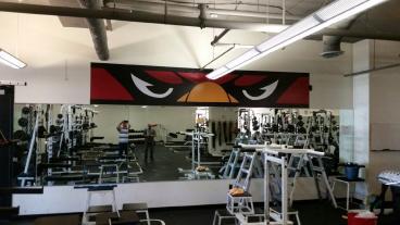 Cardinal Eyes for John Paul II Weight Room