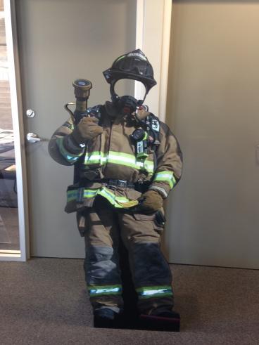 Lifesize Firefighter Cutout