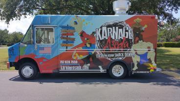 Karnage Asada Food Truck Wrap