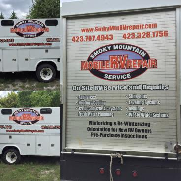 Smoky Mountain Mobile RV Repair Decals