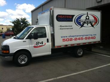 Chapman Heating & Cooling Box Truck Graphics