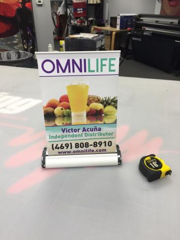 Omnilife Table Banner -- in Plano, Texas!