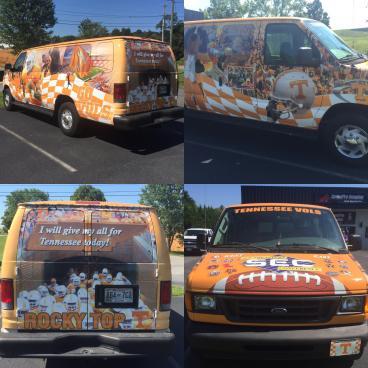 UT Vols Themed Van Wrap