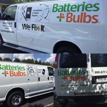 Van Decals for Batteries Plus