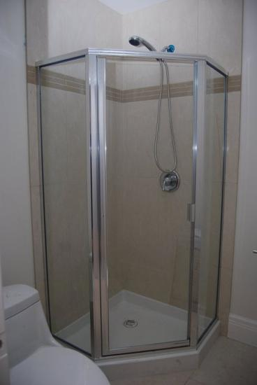 Framed Angled Shower Cubicle Thumbnail
