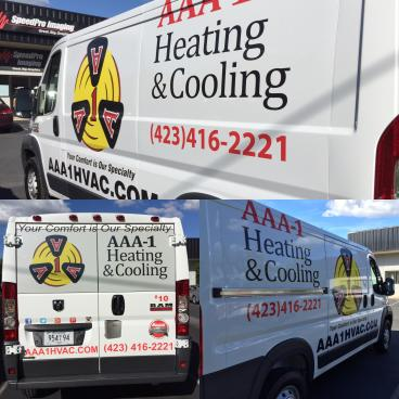 Van Decals for AAA-1 Heating and Cooling