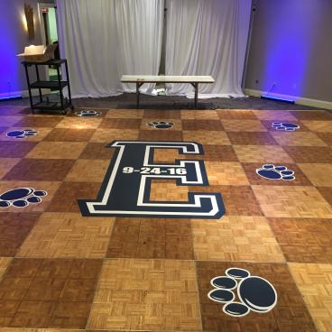Floor graphics we did for a  Bar Mitzvah that was held in the Hilton Hotel in Harrisburg