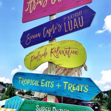Fun Luau Party Graphics