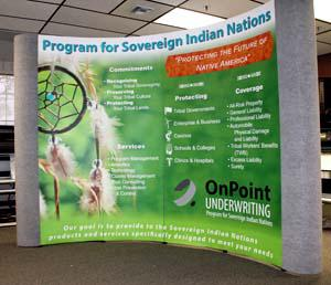 Trade Show display Denver, CO onpoint indian nations