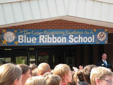 Banner - Blue Ribbon School - The Lane - Hinsdale
