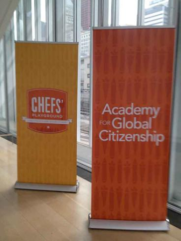 Event Banner Stands - Chef's Playground - Art Institute of Chicago