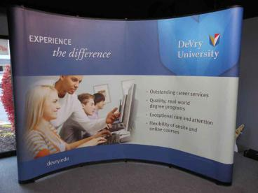 Wrap-Around Trade Show Display - DeVry University - Downers Grove,  IL