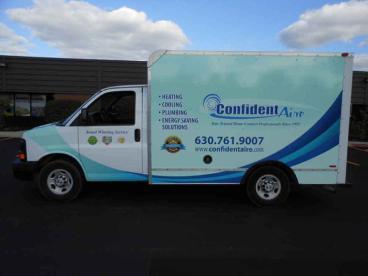 Truck Wrap - Confident Aire Fleet - Batavia