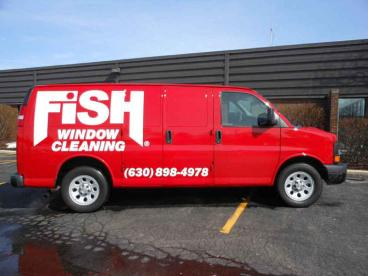 Van Wrap - Fish Window Cleaning, Hinsdale, Oak Brook, Downers Grove, Naperville