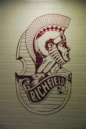 Wall Mural on Brick - Richfield Mascot