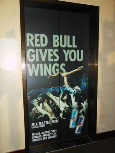 Elevator Wrap - Red Bull