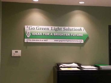 Raised Wall Graphic - Go Green Light Solutions