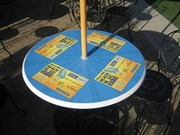 Table event advertising