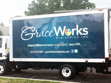 Nashville - Franklin / Williamson County Grace Works Ministries Truck Wrap