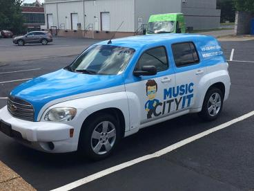 Music City Chevy Truck Wrap
