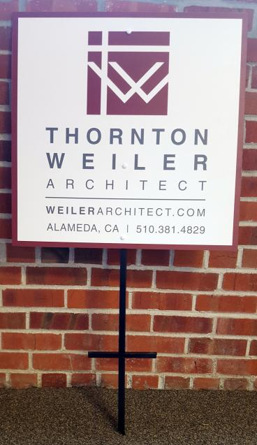 Architect sign for properties