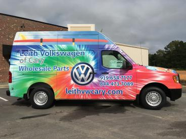 Vehicle Wrap for Leith VW of Cary