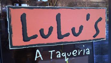 Restaurant window sign