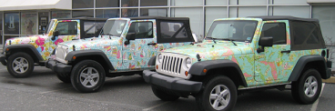 Full Vehicle Wrap - Lilly Pulitzer Jeeps