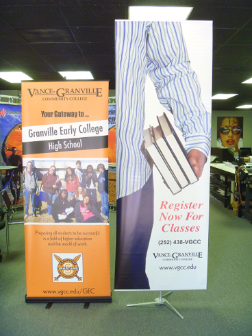 Regular and Large Banner Stands