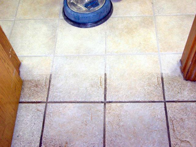Tile and hard surface cleaning before and after