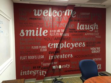 Word Wall Mural for UIP