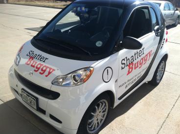 Shatter Buggy Smart Car wrap denver, CO