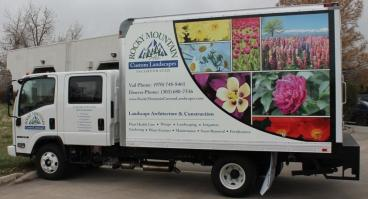 Rocky Mtn. Custom Landscapes Large Box Truck wrap Denver, CO