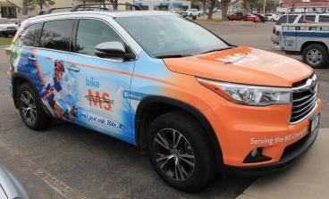 MS Society Sedan wrap Denver, CO