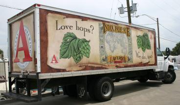 Pale Ale Box Truck Wrap