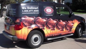 Boston Market SUV Wrap