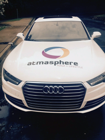 Front view of Atmasphere Fleet Vehicle