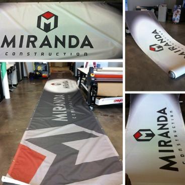 50' Mesh Banner Miranda Construction